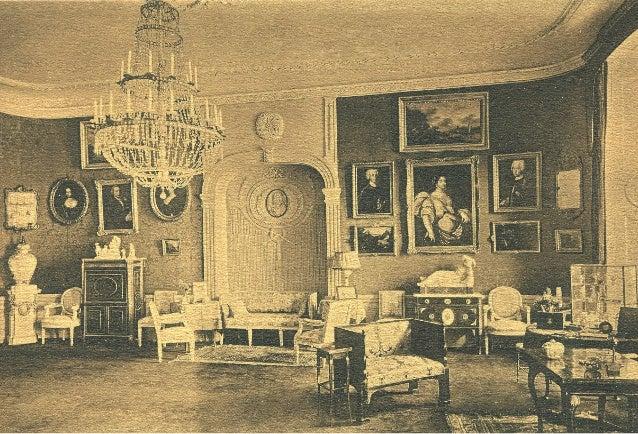 Wnętrze salonu pałacu Potockich, lata 30. XX w. Ze zbiorów rodziny Potockich