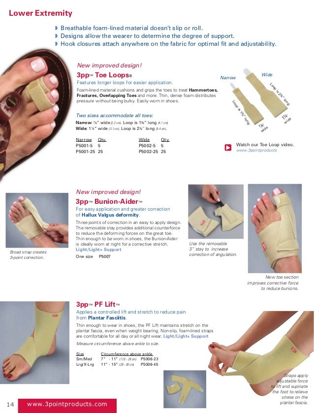 dd74324f5b ... 14. www.3pointproducts.com 3pp™ PF Lift™ Applies a controlled lift and  stretch to reduce pain from Plantar Fasciitis.