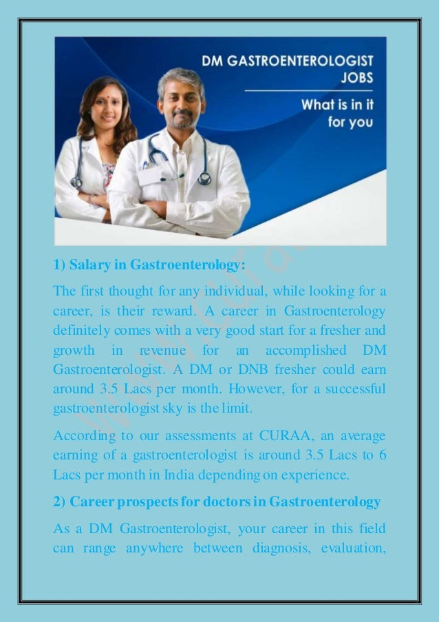 3 pointers for dm gastroenterology jobs what is in it for you