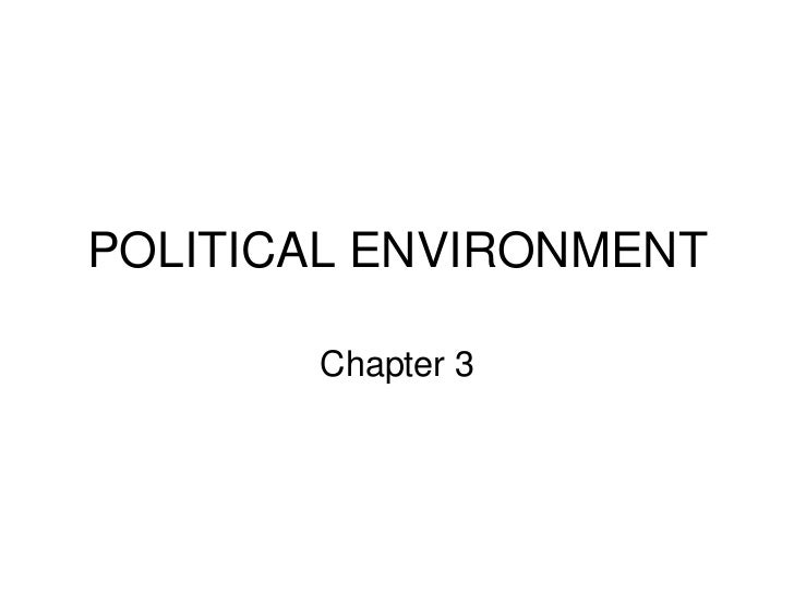 POLITICAL ENVIRONMENT <br />Chapter 3<br />