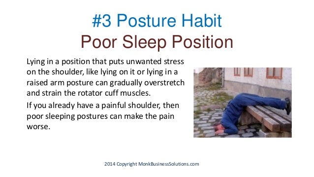 Three Poor Posture Habits That Create Shoulder Pain And