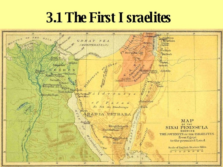 3.1 The First Israelites