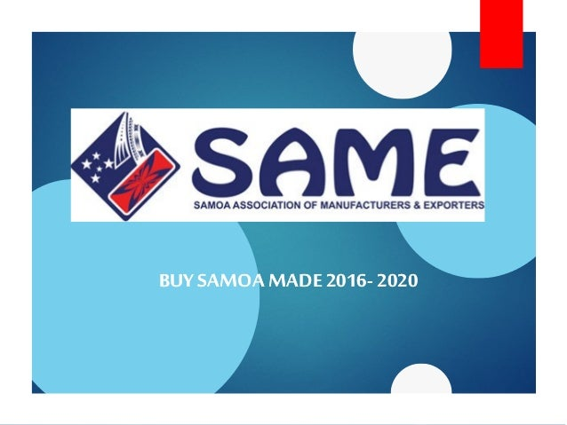 BUYSAMOA MADE 2016BUYSAMOA MADE 2016-- 20202020