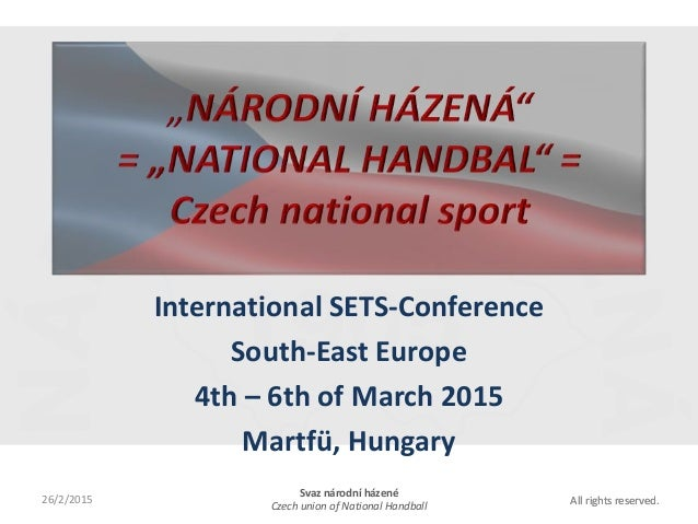 All rights reserved.All rights reserved. International SETS-Conference South-East Europe 4th – 6th of March 2015 Martfü, H...