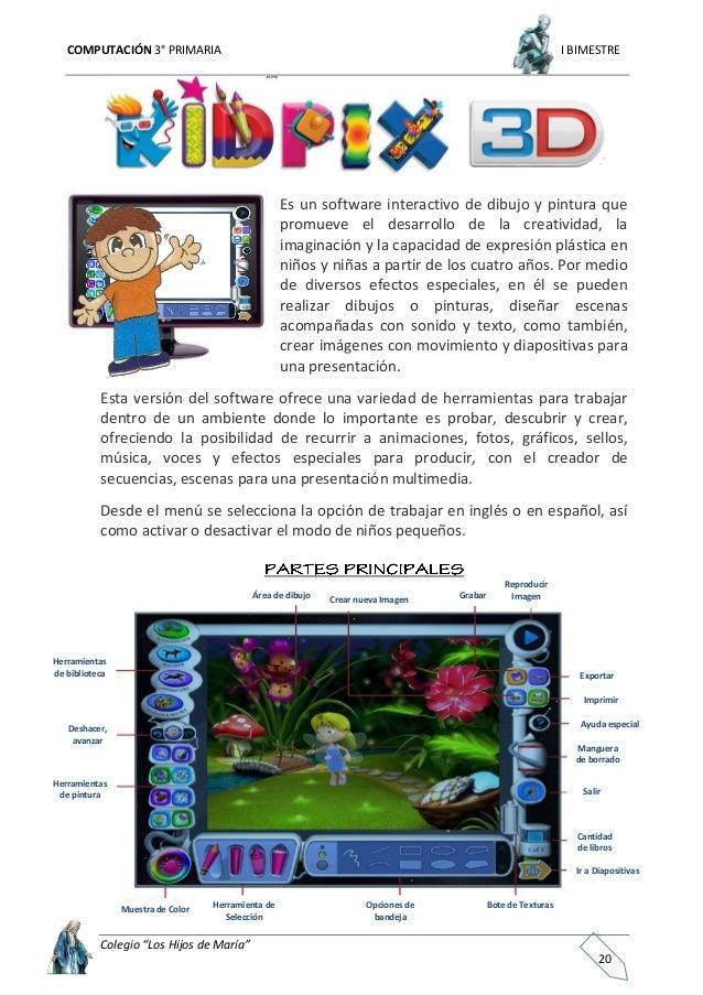 """COMPUTACIÓN 3° PRIMARIA I BIMESTRE Colegio """"Los Hijos de María"""" 21 La barra de herramientas de dibujo sirve para dibujar d..."""