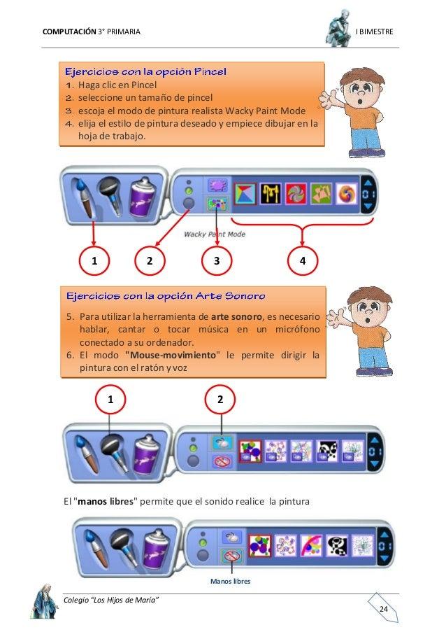 """COMPUTACIÓN 3° PRIMARIA I BIMESTRE Colegio """"Los Hijos de María"""" 25 Uso de las herramientas Cubo de pintura Cubos de pintur..."""