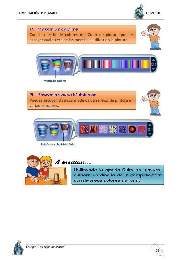 """COMPUTACIÓN 3° PRIMARIA I BIMESTRE Colegio """"Los Hijos de María"""" 27 Uso de las herramientas de sellos Utilice las herramien..."""