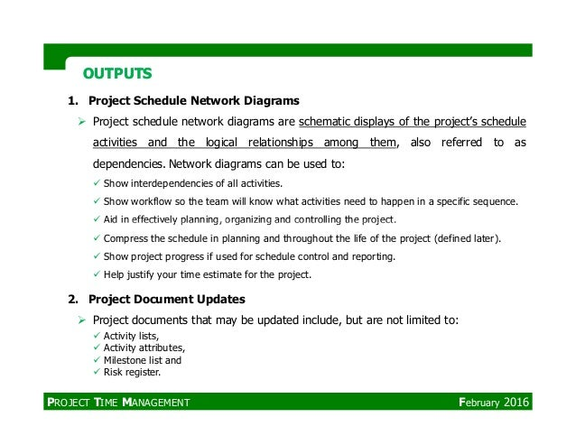 Pmpproject time management management february 2016 24 1 project schedule network diagrams ccuart Image collections