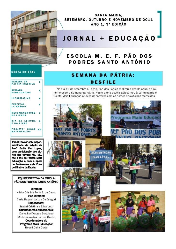 SANTA MARIA,                                          SETEMBRO, OUTUBRO E NOVEMBRO DE 2011                                ...