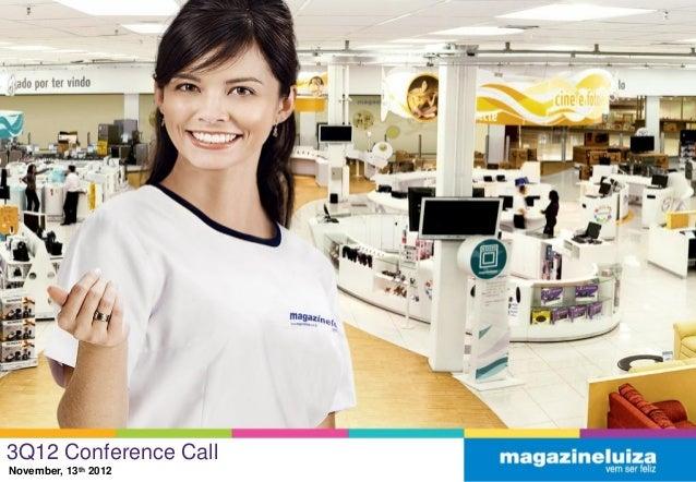 3Q12 Conference CallNovember, 13th 2012