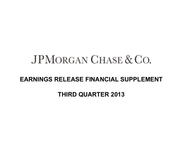 EARNINGS RELEASE FINANCIAL SUPPLEMENT THIRD QUARTER 2013