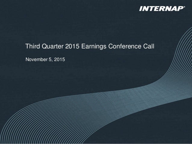 Third Quarter 2015 Earnings Conference Call November 5, 2015