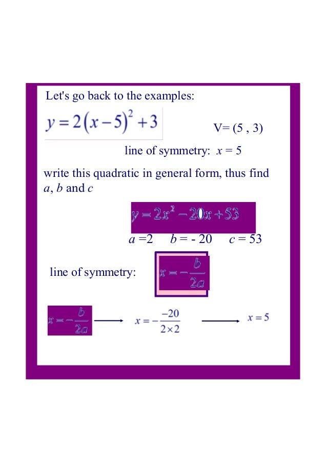 3 Quadratic Vertex Form