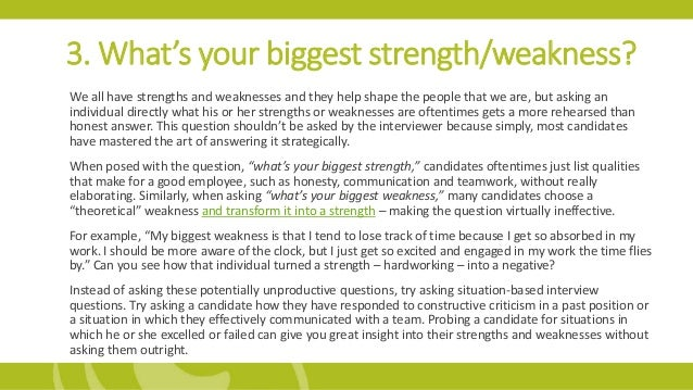 how to answer strengths and weaknesses question - thelongwayup.info