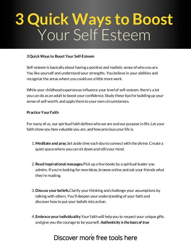Better self your esteem how to Self