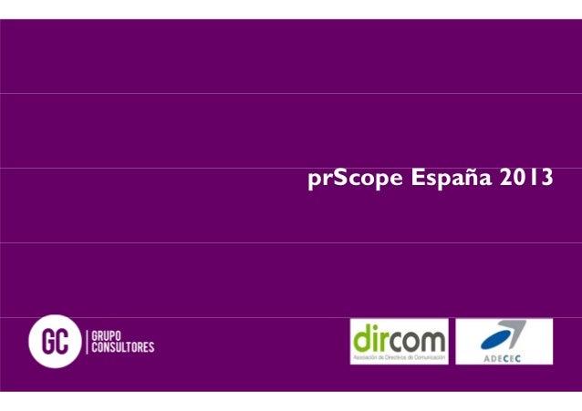 prScope España 2013
