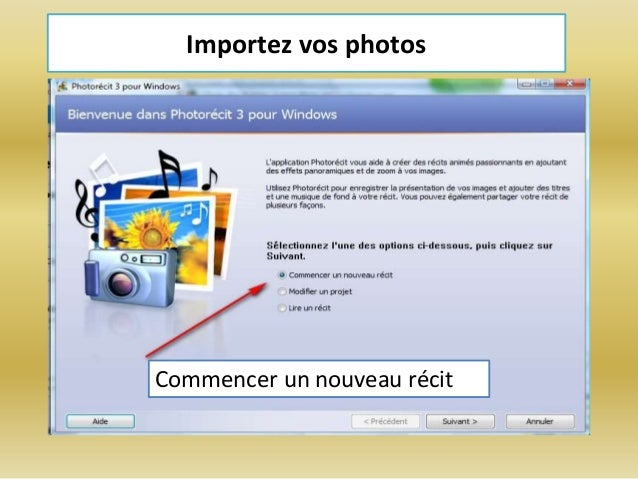 PHOTORECIT WINDOWS VISTA TÉLÉCHARGER 3 POUR