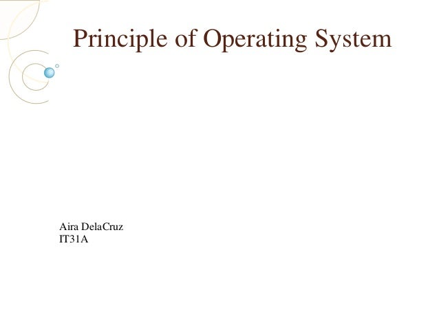 Principle of Operating System Aira DelaCruz IT31A