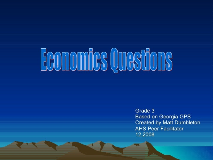 Can You Pass An Economics 101 Exam?