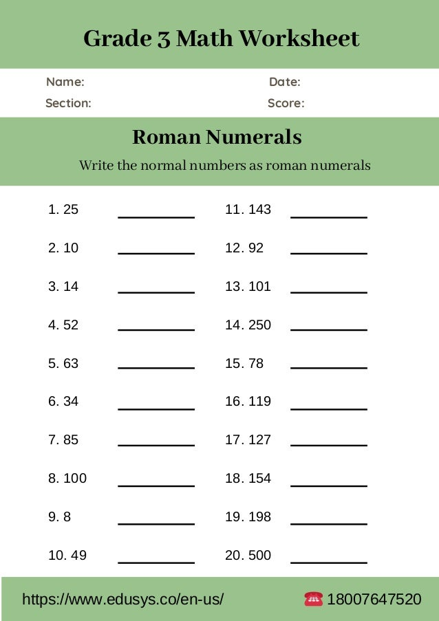 3rd grade math worksheet free pdf