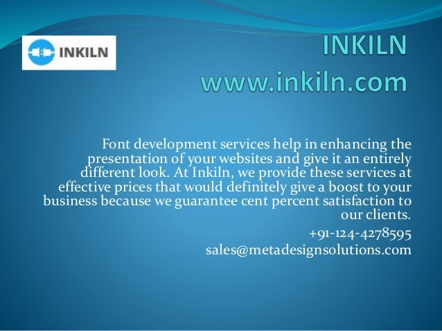 Font development services help in enhancing the presentation of your websites and give it an entirely different look. At I...