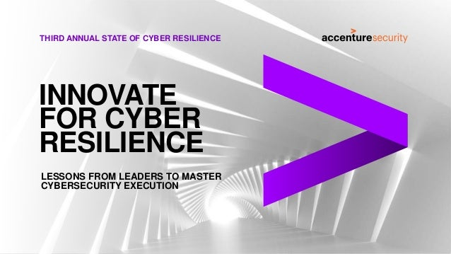 THIRD ANNUAL STATE OF CYBER RESILIENCE LESSONS FROM LEADERS TO MASTER CYBERSECURITY EXECUTION INNOVATE FOR CYBER RESILIENCE