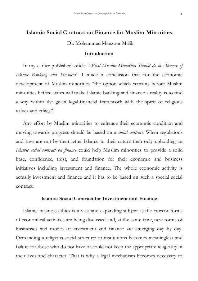 Islamic Social Contract