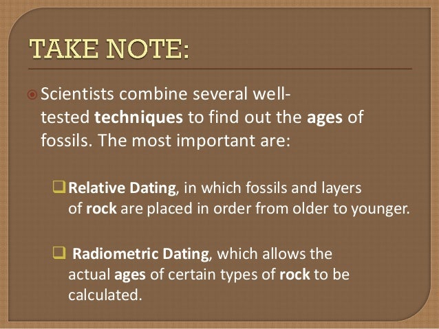 how is relative dating important to the study of evolution