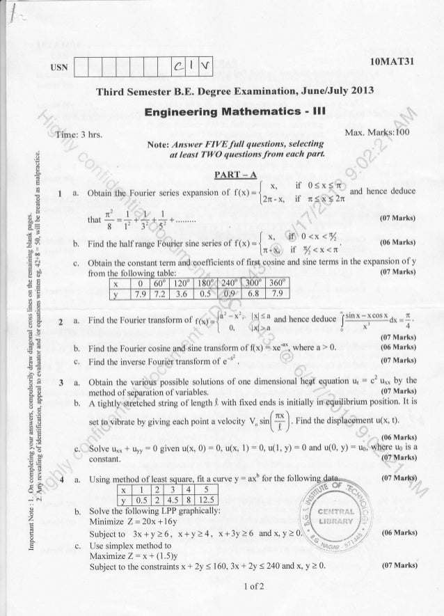 3rd semester Civil Engineering ( 2013-June) Question Papers