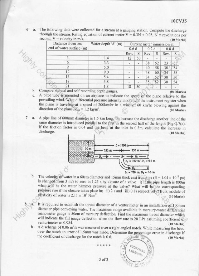 2013-June 3rd Semester Civil Engineering Question Papers