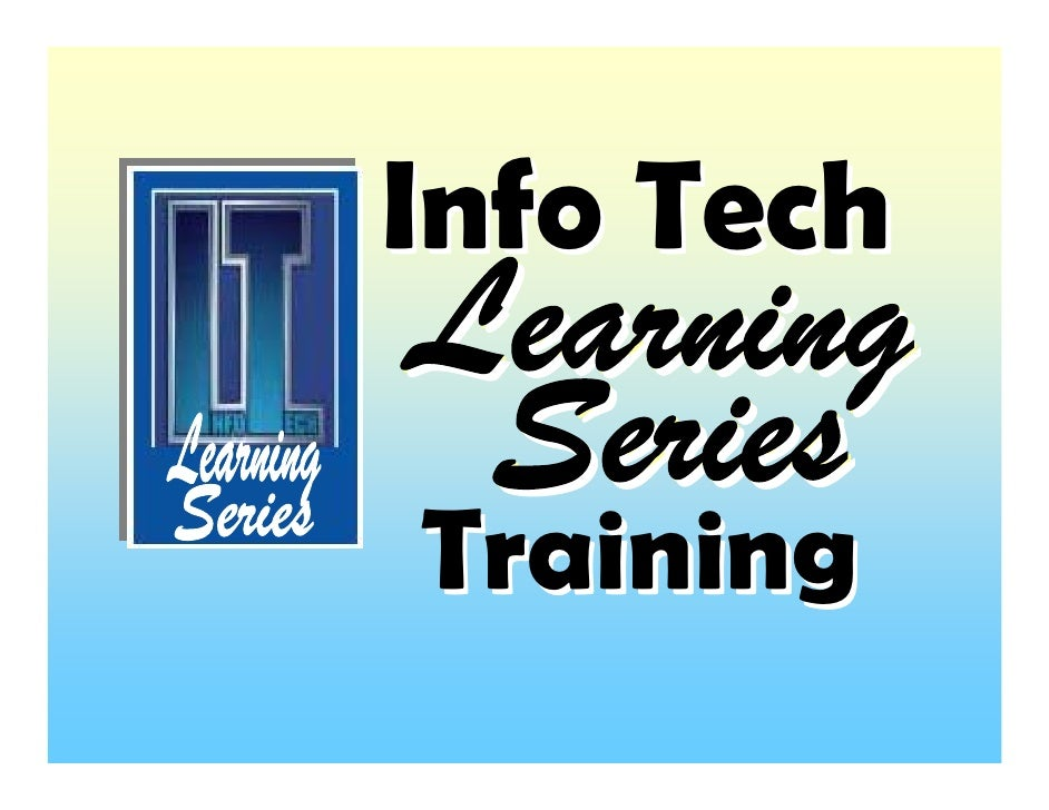 Info Tech  Training