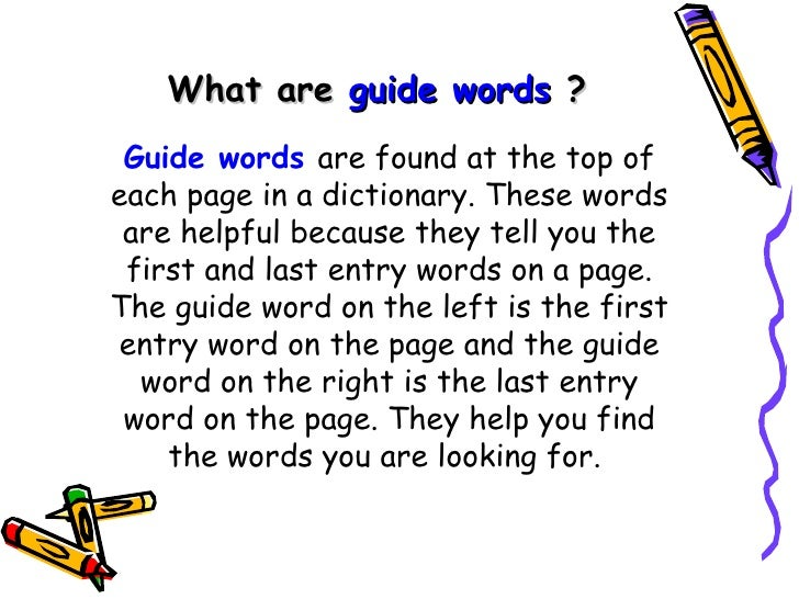 Guide Word | Definition of Guide Word by Merriam-Webster