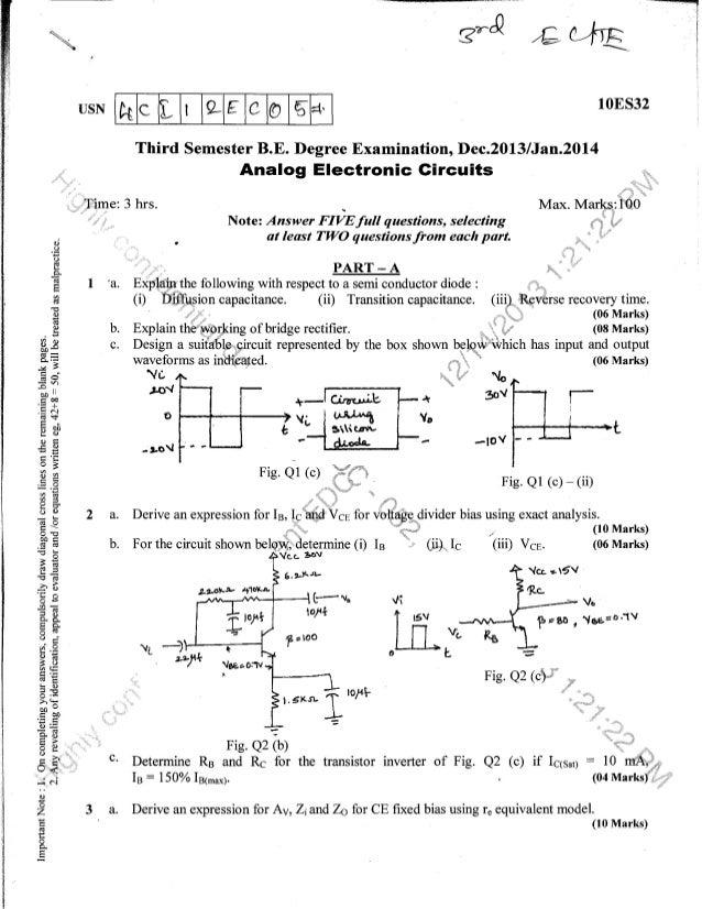 3rd ec & te question papers december 2013