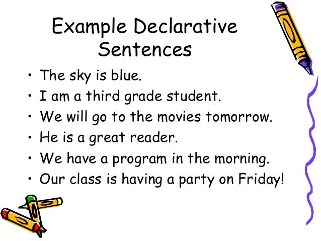 example kinds of sentences