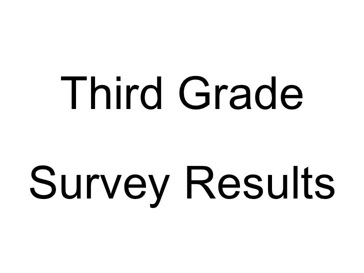 Third Grade Survey Results