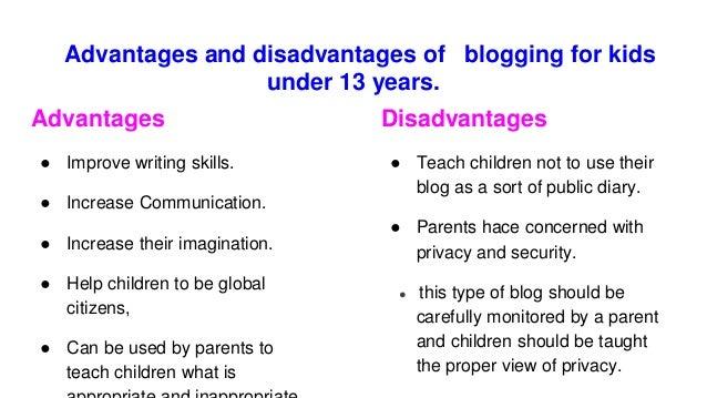 Blogging for Kids under 13