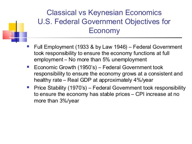 The classical economists and keynes the