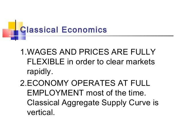 Classical and Keynesian Economics: Contending Approaches to Macroeconomics Slide 3