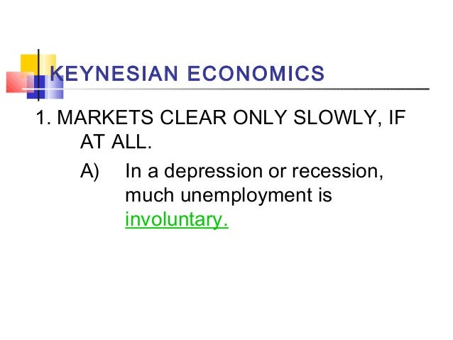 a comparison between keynesian economics and supply side economics