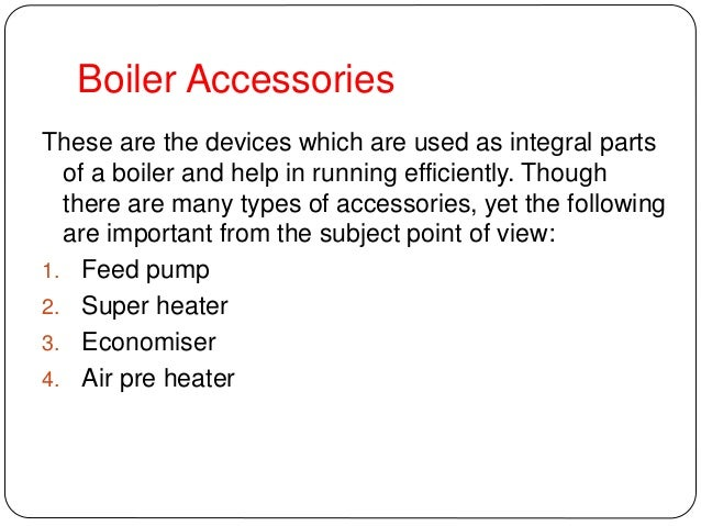 boiler mountings & Accessories