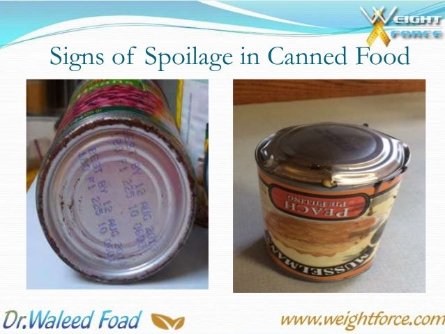 Signs Of Spoilage In Canned Foods