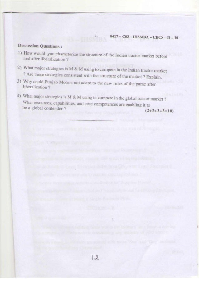 KUD MBA 3rd sem question papers