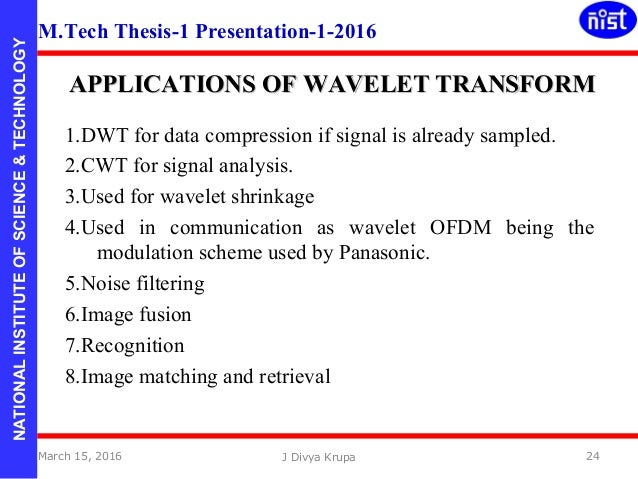 Latest Thesis Topics in Digital Image Processing