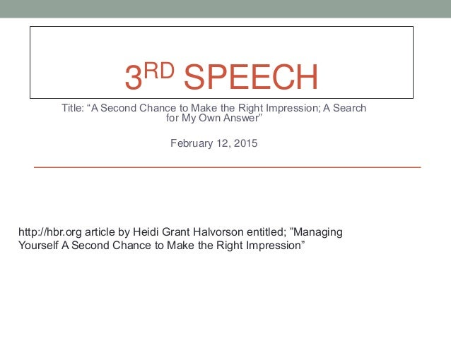 second chance speech