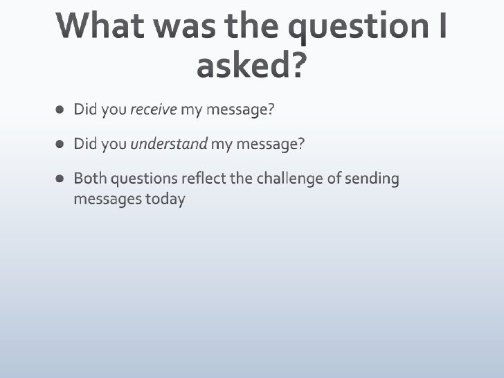 Third Tuesday Vancouver: Did you get the message? Slide 2