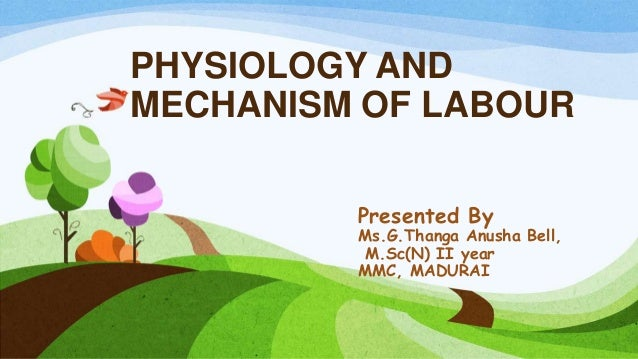 PHYSIOLOGY AND MECHANISM OF LABOUR Presented By Ms.G.Thanga Anusha Bell, M.Sc(N) II year MMC, MADURAI