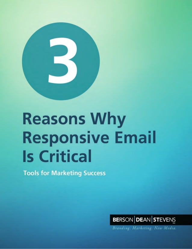 3 Reasons Why Responsive Email Really Matters to Marketers Today, mobile devices and their email accounts are inseparable....