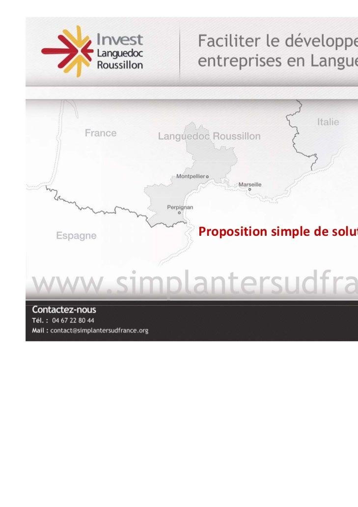 3.Etudedecas           Propositionsimpledesolutionsd'implantation SPECIMEN