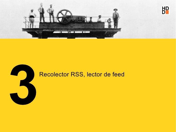3     Recolector RSS, lector de feed