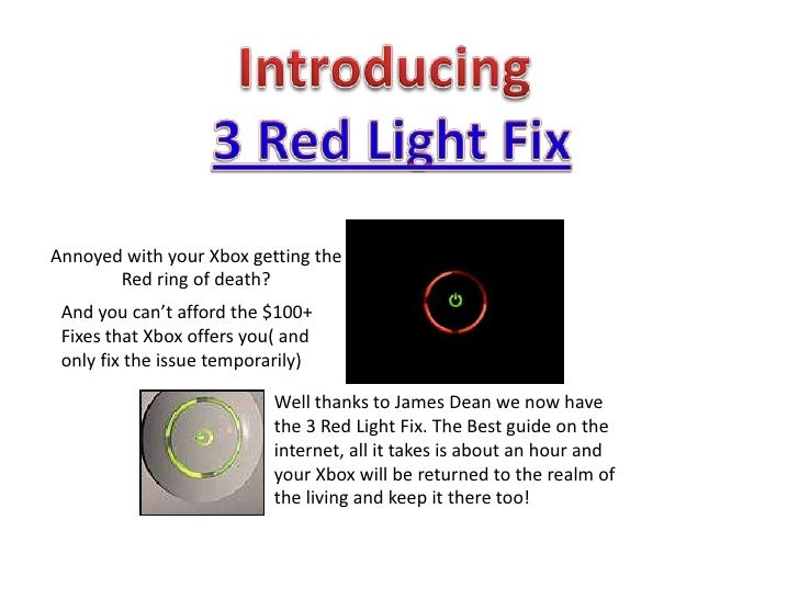Array - 3 red light fix the best guide to fixing your xbox 360  rh   slideshare net